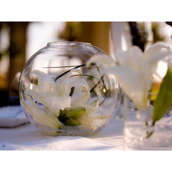 vase boule aquarium 30cm centre de table creative emotions. Black Bedroom Furniture Sets. Home Design Ideas