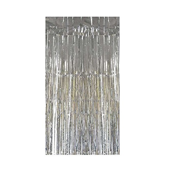 fr  rideau franges gris argent backdrop