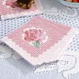 20 serviettes rose rétro pois shabby