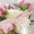 10 marque place oiseau rose poudré