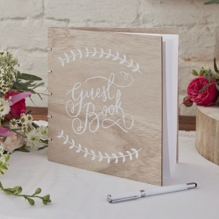 """Livre d'or en bois naturel """"boho guest book"""""""