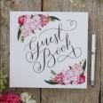 Livre d'or floral mariage bohème