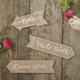 3 flèches signalétiques mariage et fêtes
