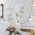 10 ballons mariage Mr & Mrs bohème