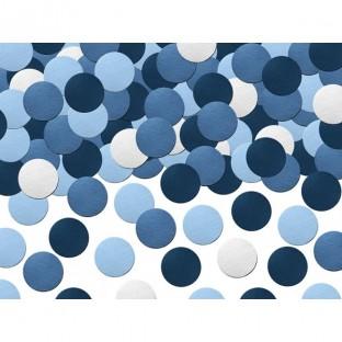 Assortiment confettis de table ronds bleus