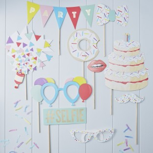 Kit Photobooth anniversaire selfie birthday