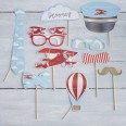Kit Photobooth avion petit aviateur