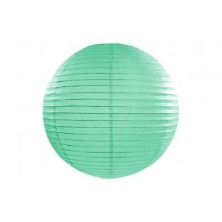 1 lanterne japonaise en papier vert menthe 35 cm pompons. Black Bedroom Furniture Sets. Home Design Ideas