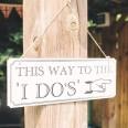 "Pancarte panneau cérémonie mariage ""this way"" ""I do"""