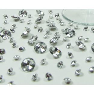Perles Diamant de table argent (5-10-12mm)