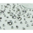 Perles Diamant de table argent (5-10-12mm)