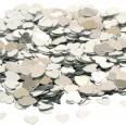Confettis de table coeur gris argent