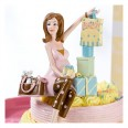 Figurine gateau baby shower cake top