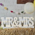 Location led lettres lumineuses mariage Mr & Mrs