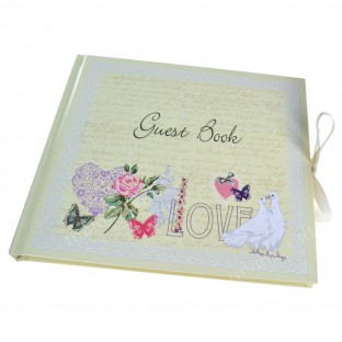 Livre d'Or guest book shabby colombes