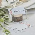 10 étiquettes américaines motif floral boho