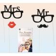 4 accessoires photo mariage Mr Mrs