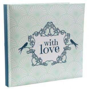 Livre d'or vintage vert menthe With Love