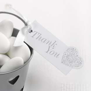 """10 étiquettes """"thank you"""" coeur vintage romance"""