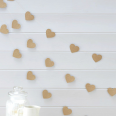 Guirlande papier kraft coeur rétro