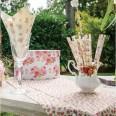 24 pailles shabby fleurettes