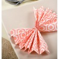 20 serviettes de table corail motif design