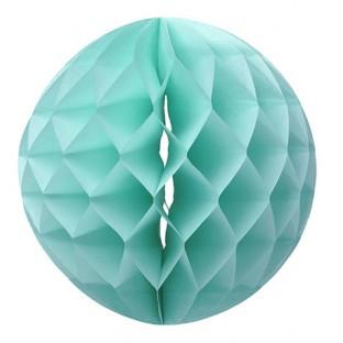 La boule déco de papier alvéolée menthe 30cm