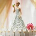 Figurine princesse gâteau mariage conte de fée