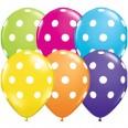 Ballons colorés à pois blancs (x 6)