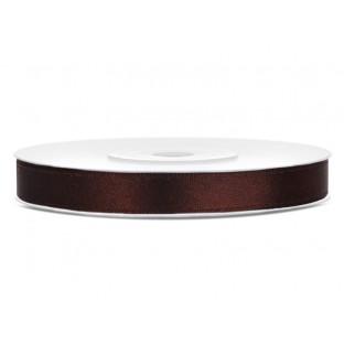 Ruban de satin 6mm brun chocolat bobine 25M