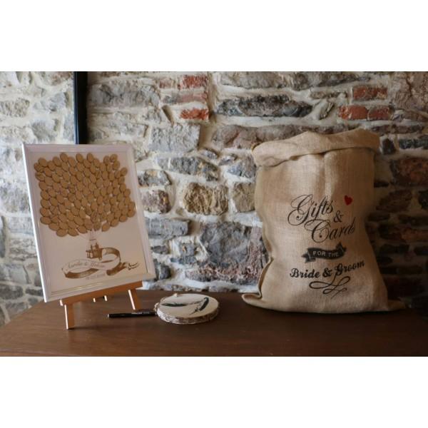 le sac en toile de jute  urne mariage