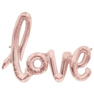 Ballon geant love cuivre 1M rose gold