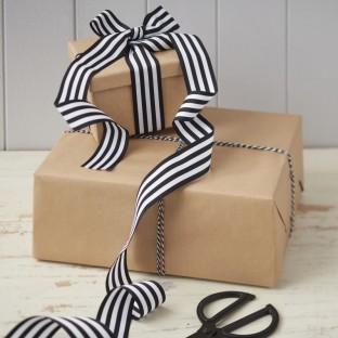 Pack Rubans rayures noir et blanc et baker twine