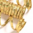 10 rouleaux petits serpentins dorés métallisés