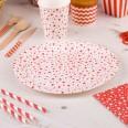 8 assiettes carton étoile rouge anniversaire