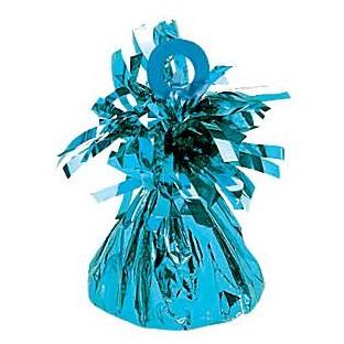 Poids pour ballon en alu bleu