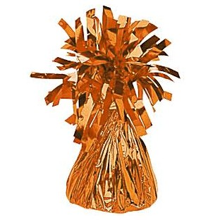 Poids pour ballons en alu orange 170gr