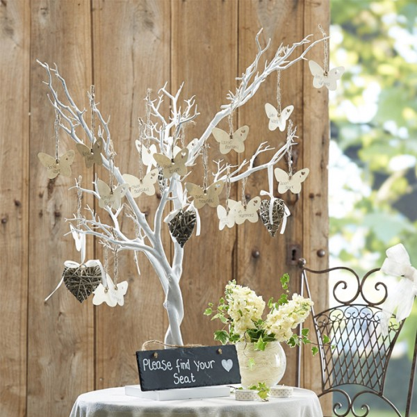 arbre voeux souhaits mariage blanc 1m d co salle mariage creative emotions. Black Bedroom Furniture Sets. Home Design Ideas