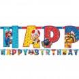 """Banderole """"Happy Birthday"""" Mario bros"""