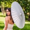 Ombrelle mariage papier blanc