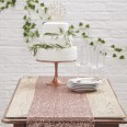 Le chemin de table sequins cuivre rose gold