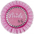 "Badge rosette ""bride to be"" EVJF"