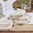 Mini tambourins de mariage (x5)