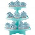 Présentoir à cupcakes bleu aqua