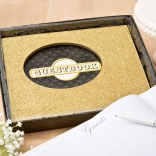 Livre d'or doré paillettes gold glitter