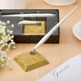 Porte stylo doré paillettes gold glitter
