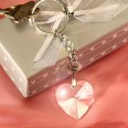 Porte clés coeur cristal cadeau invité mariage romantique