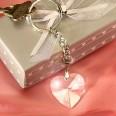 Porte clés coeur cristal, cadeau invité