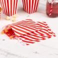 Sachets en papier rayures rouge et blanc (x25)