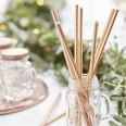 Metallic Gold Stripey Paper Straws